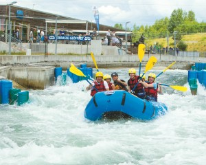 White water rafting in the Canoe Park Markkleeberg