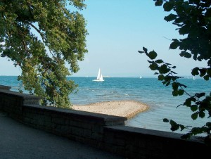 Lake Constance in the summer