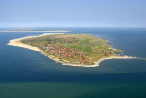 Aerial view of Baltrum