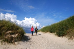Children exploring the dunes
