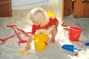 Building sandcastles in the playhouse