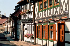 Wernigerode, Harz: view of the town