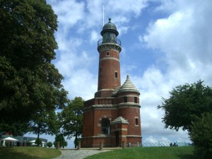 Lighthouse in the Holtenau district of Kiel