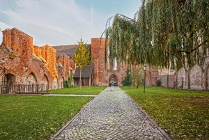 European brick Gothic Route - St. Johns Attracting in Stralsund