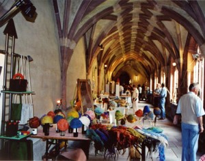 Exhibition of works for sale in the historic cloisters
