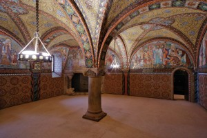Wartburg Castle in Eisenach: singers' bower in the singers' hall