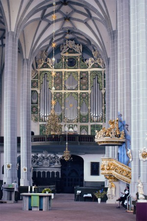 The Sun Organ (Sonnenorgel) in the St. Peter and Paul Church in Görlitz