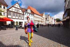 Fairytale Road - Pied Piper at Backer Street in Hameln