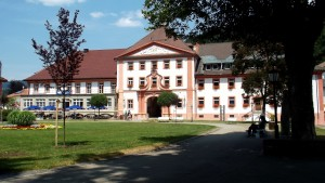 St. Blasien Abbey courtyard and town hall