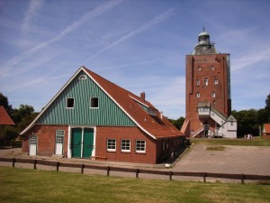 Neuwerk Island lighthouse with former barn