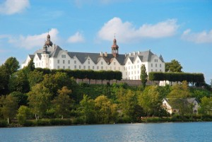 Plön Castle sits in splendour above Great Plön Lake