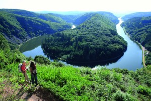 Breathtaking view of the Saar Bow near Orscholz.