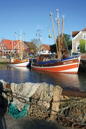 Boat in Neuharlingersiel port