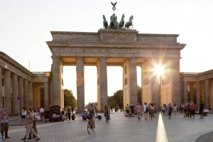 At the Brandenburger Gate, Berlin