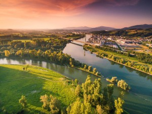 beautiful view of the mouth of the Isar