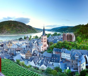 Bacharach, view of the Upper Middle Rhine Valley