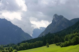 View of the Ettal valley from the Meditation Trail