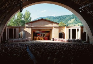 Open-air stage in the Passion Play Theatre, Oberammergau