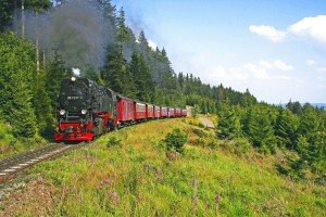 Taking the Brocken Railway up to the mountain summit