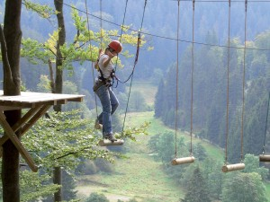 High ropes course in Willingen Hochsauerland