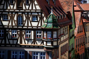 Rothenburg ob der Tauber, Pretty half-timbered buildings