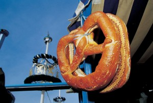 Bavaria, pretzel and maypole