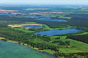 Müritz National Park, aerial view
