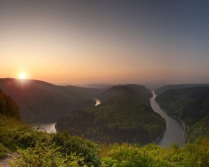 Saar Bow, sunset
