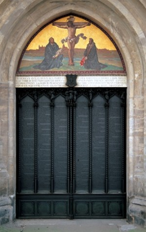 Wittenberg, door of Luther's 95 theses at Castle Church