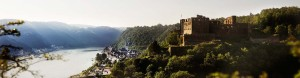View over Rheinfels Castle ruins to Sankt Goar