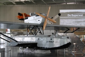 Life-size replica of the Dornier Wal N25 inside the hangar