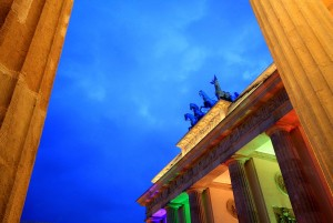 Berlin: Brandenburg Gate in the evening