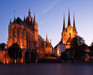 Erfurt, cathedral and Church of St. Severus