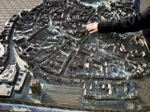 Erfurt, tactile model of the old town