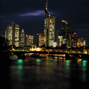 Frankfurt am Main, skyline at night