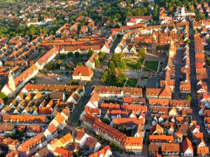 Freudenstadt, aerial view of the market square