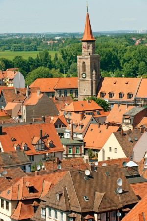 Fürth, view over the rooftops