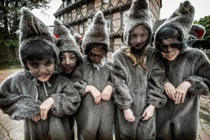 Fairytale Road - children following the Pied Piper of Hameln