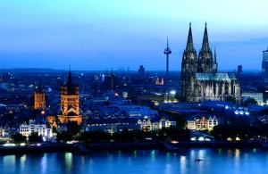 Cologne, panoramic view of the Rhine