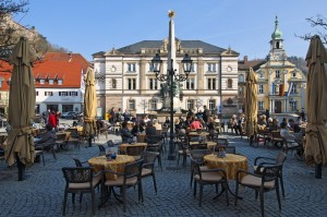 Kulmbach: Luitpold fountain, town hall, market square