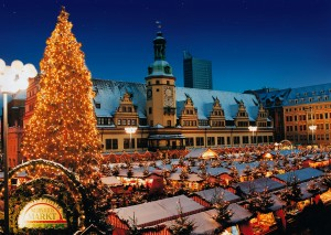 Leipzig, Christmas market by the Old Town Hall