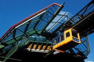 Wuppertal: suspension monorail line (13.3 km along the River Wupper)