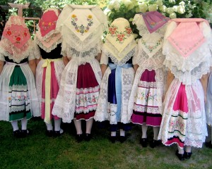 Traditional Sorbian costume. High fashion with heritage.