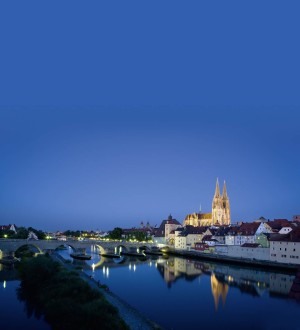 Regensburg skyline at night