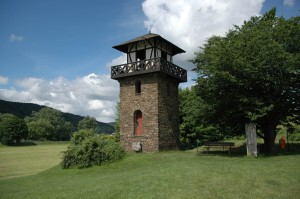 Roman tower in Rheinbrohl