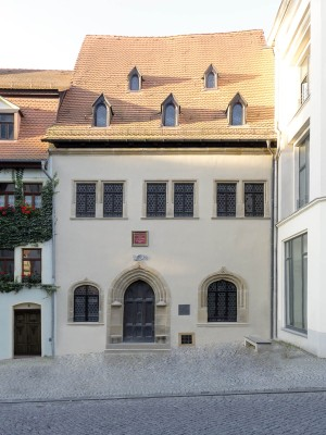 Eisleben, the house where Luther died, street view