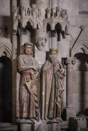 Naumburg: Ekkehard and Uta donor figures in Naumburg Cathedral of St. Peter and St. Paul